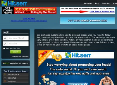 Hitserr - Social Traffic Exchanger